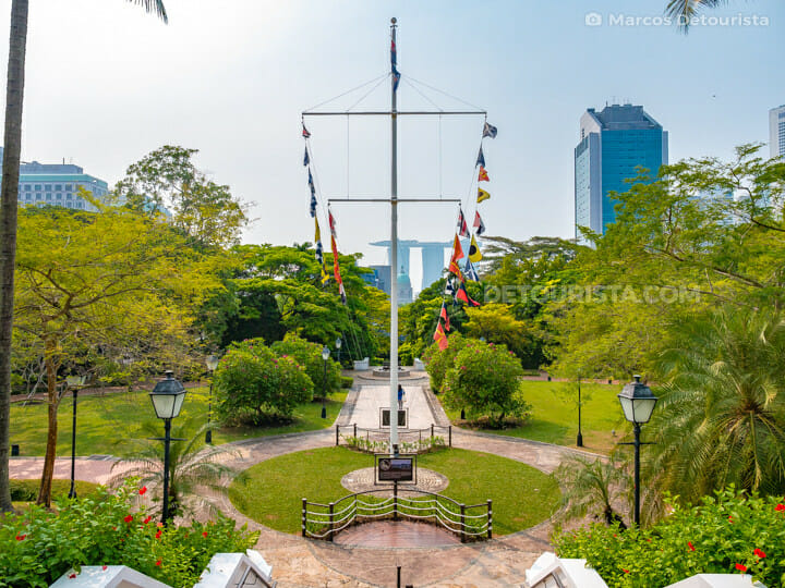 Fort Canning mast, in Singapore