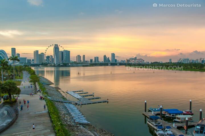 Marina Barrage sunset view, Singapore