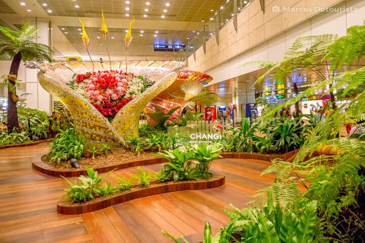 Pre-departure area at Chiangi Airport - Terminal 3, in Singapore
