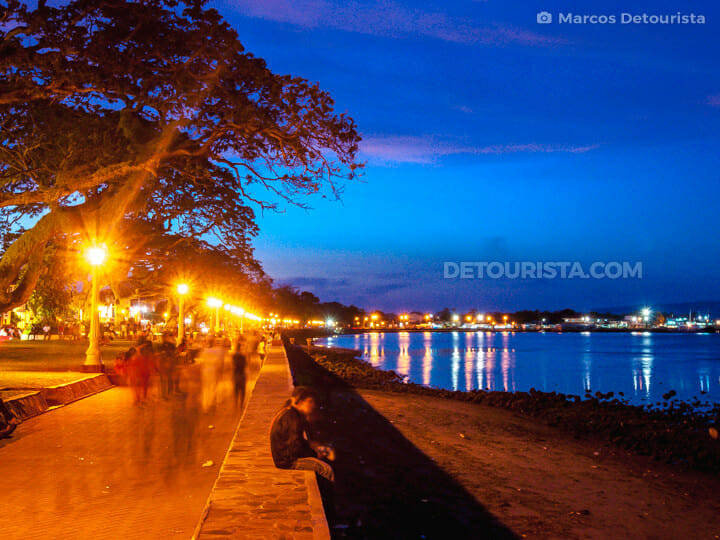 Dumaguete Boulevard at night