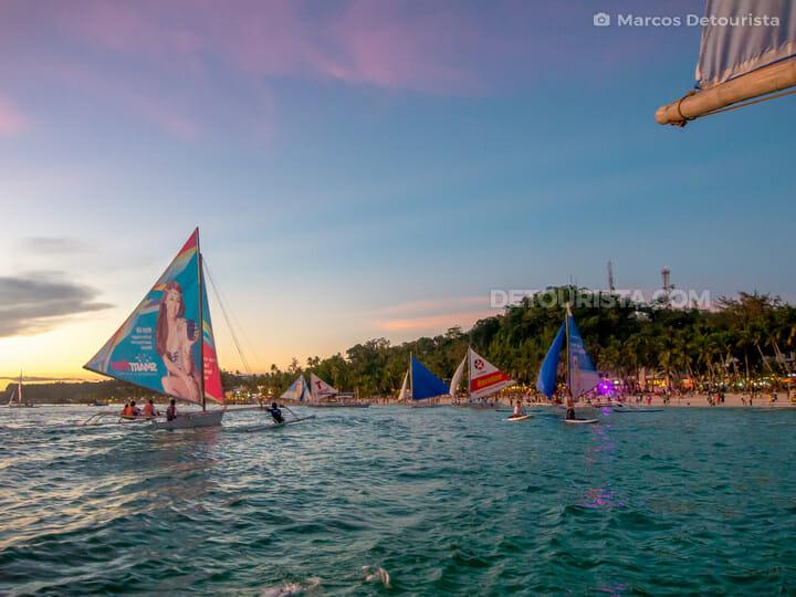 Sunset Paraw sailing