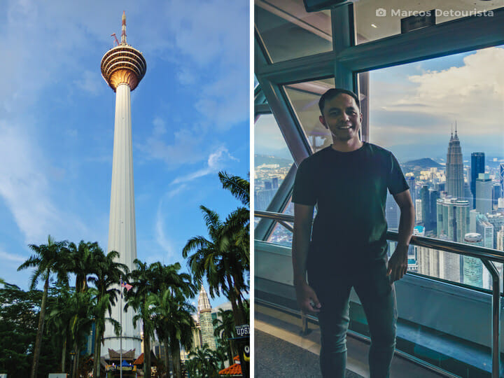 Marcos at KL Tower, in Kuala Lumpur, Malaysia