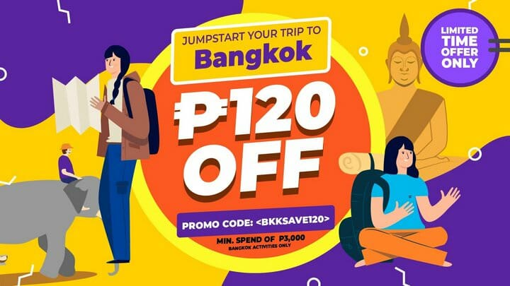 P120 OFF Bangkok Tour Package + Tickets Promo Code – Klook PH