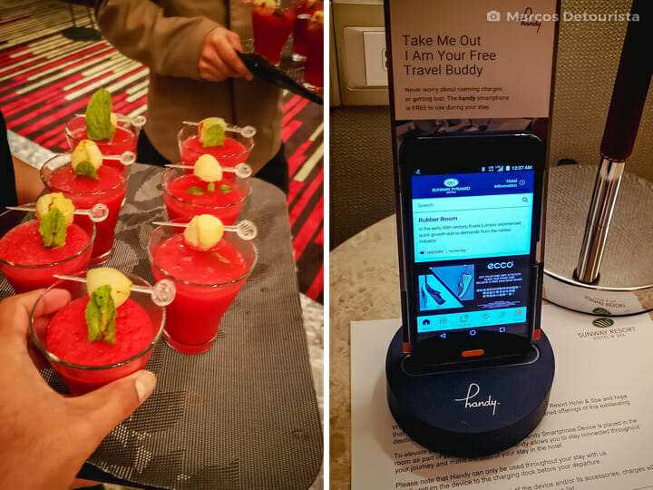 Complimentary welcome drink and in-room smartphone at Sunway Pyramid Hotel