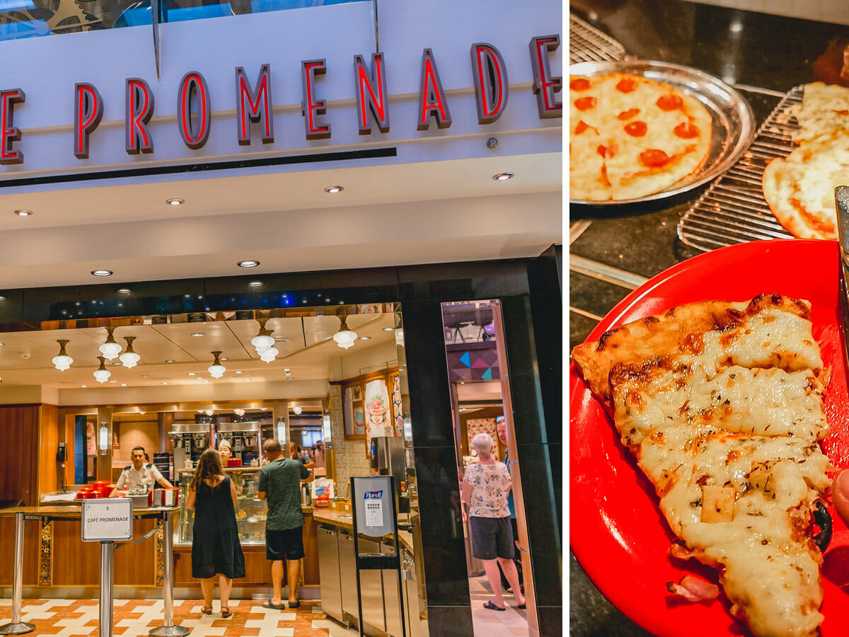 Cafe Promenade and Sorrento's Pizza - Quantum of the Seas by Royal Caribbean