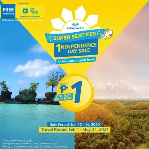 Cebu Pacific PISO FARE – 2020 Independence Day Promo