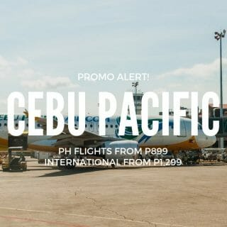 Cebu Pacific P299 Promo for November to March Travel