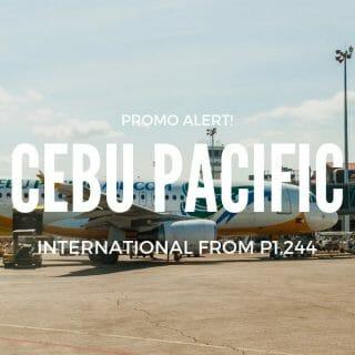 Cebu Pacific – Singapore, Europe, & Maldives Promo for 2019 Travel