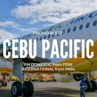 Cebu Pacific Promo P399 Promo on Domestic and International Flights