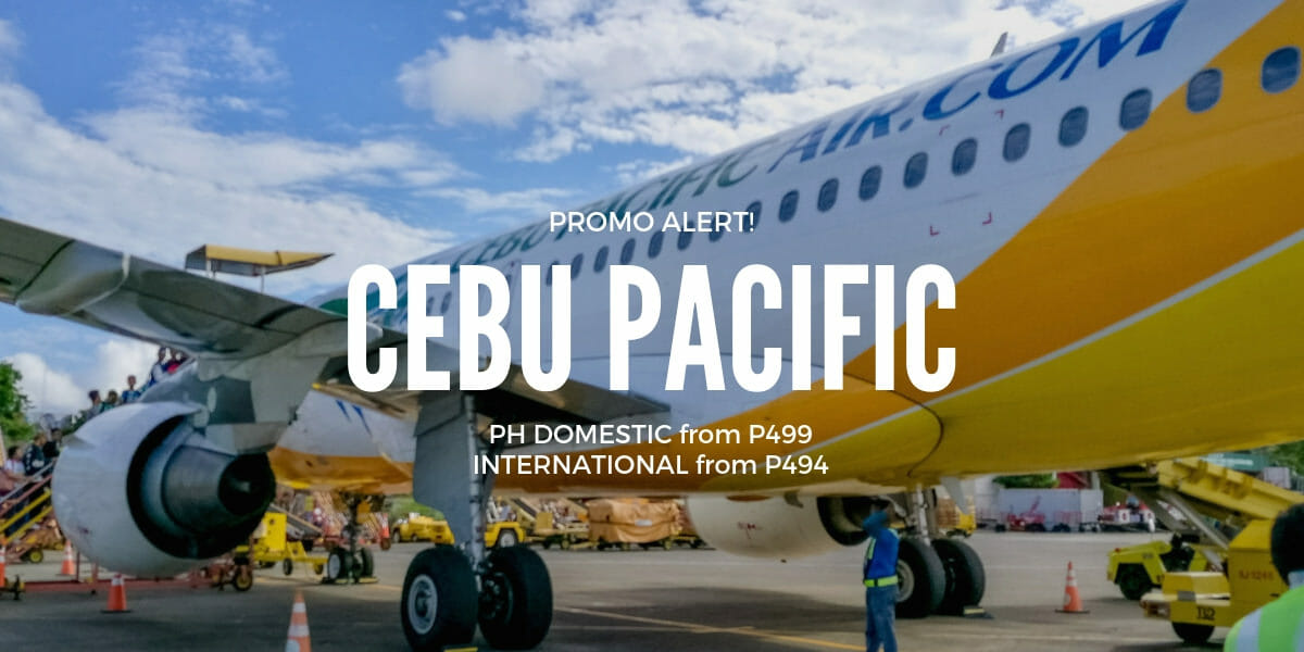 Cebu Pacific P499 Manila Flights Promo for March to June Travel