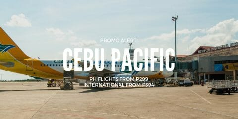 Cebu Pacific P299 Promo on ALL Domestic and International Flights