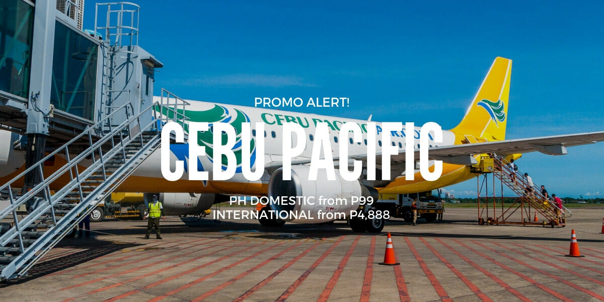 P99 Cebu Pacific 1-Day Snap Sale on Cebu Flights for March to August Travel