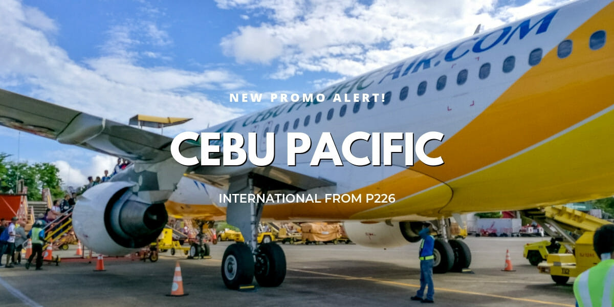 Cebu Pacific One-Day Sale! International Flights from P226