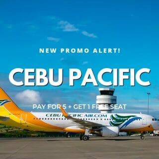 "Cebu Pacific ""1 FREE Seat Per Squad of 6"" Promo on ALL Domestic Flights"