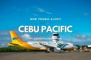 Cebu Pacific P299 Promo for August to October Travel