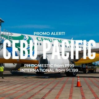 Cebu Pacific Promo – P199+ for January, February, March & April Travel