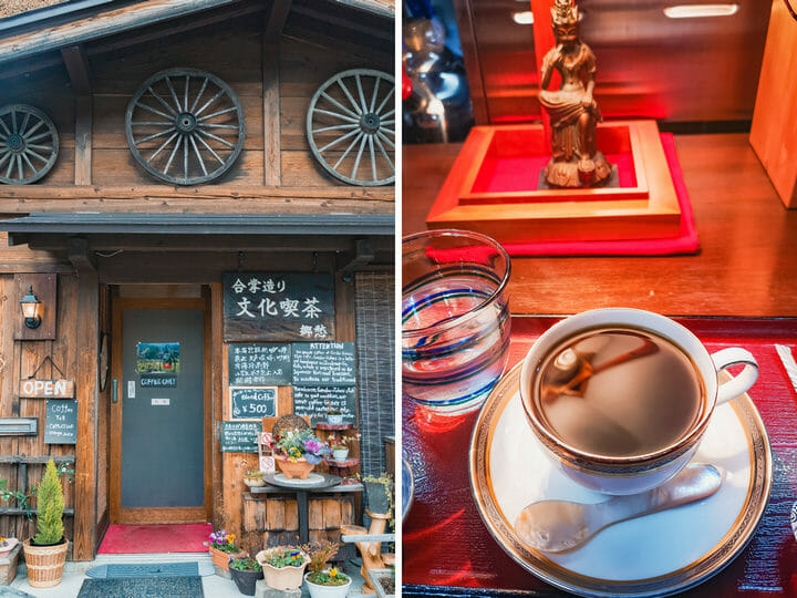 Coffee shop at Shirakawa-go Village
