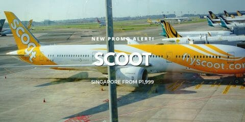 P1,999 ALL-IN Scoot GTG Promo on Manila, Cebu & Clark International Flights