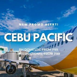 Cebu Pacific P99 Promo on Domestic and International Flights