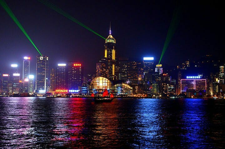Symphony of Lights view from Tsim Sha Tsui