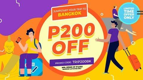 P200 OFF all Bangkok activities – Klook PH
