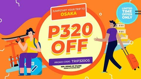 P320 OFF all Osaka activities – Klook PH