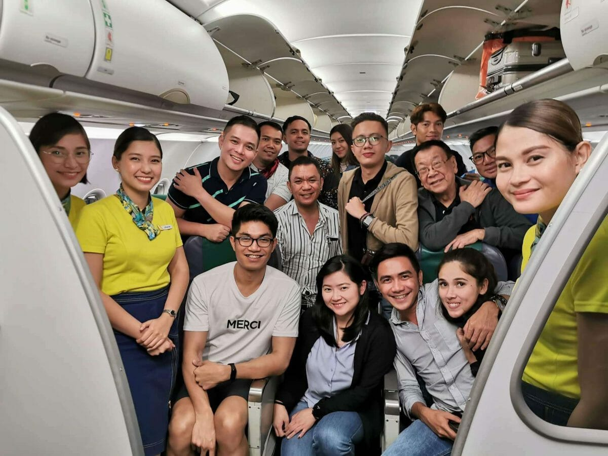 Marcos with #CEBfliesSiemReap squad