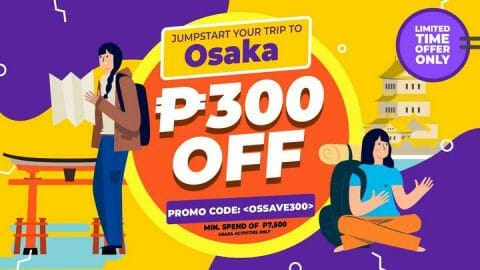 P300 OFF Osaka Tour Package + Tickets Promo Code – Klook PH