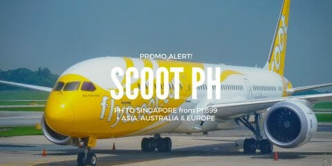 Scoot Sale – P1,899 to Singapore & More From Manila, Cebu, Kalibo, Clark