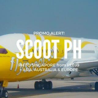 Scoot Sale – P1,899 to Singapore & More From Manila, Cebu, Kalibo, Clark