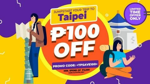 P100 OFF Taipei Tour Package + Tickets Promo Code – Klook PH