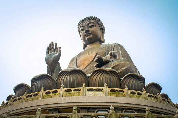 Giant sitting Buddha in Ngong Ping, Lantau Island